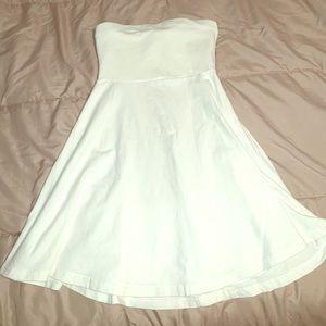 Express white strapless dress